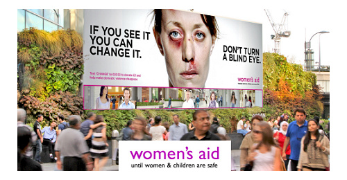 Women's Aid - This world-renown campaign got 400M people learn about domestic violence