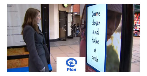 Plan UK - The first campaign that offered messages depending on the gender in a bus shelter